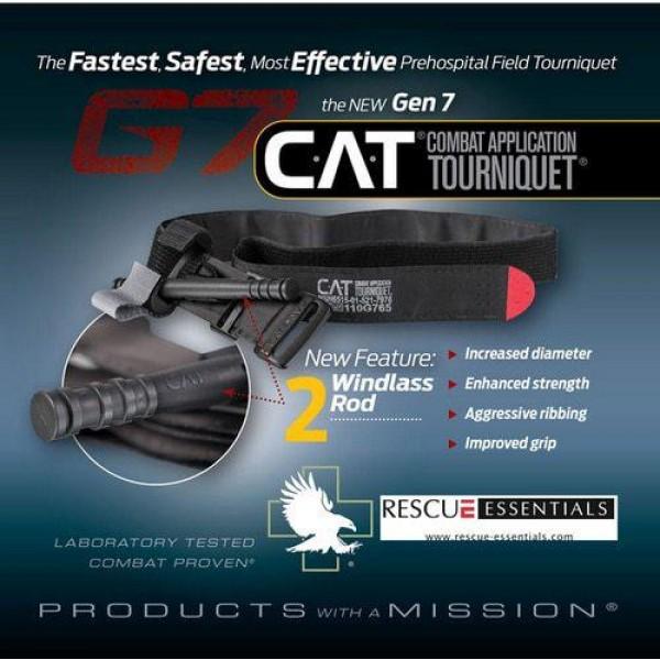 Torniquete Cat Gen 7 Black G7 - Original - Lacrado