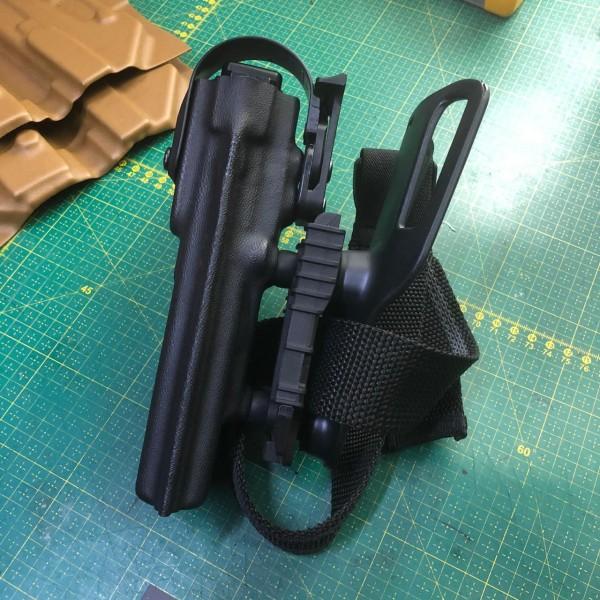 Coldre Mid-Ride Glock G17/22 Destro Preto