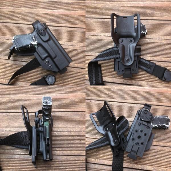 Coldre Mid-Ride Glock G19/23/25 Destro Preto